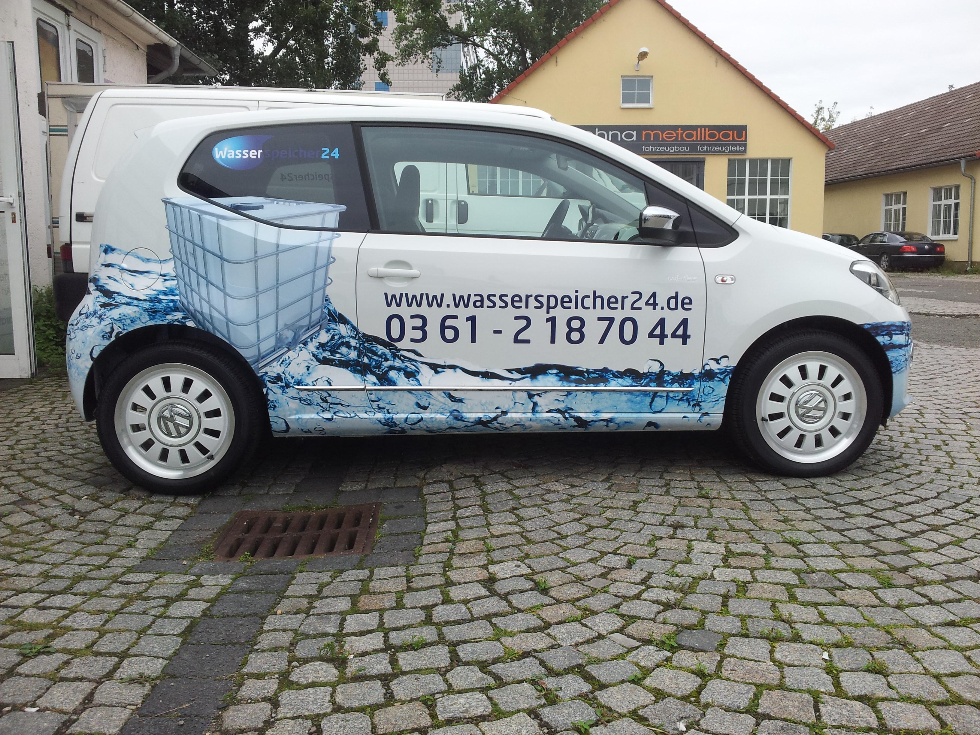 Fahrzeugbeschriftung Wasserspeicher24