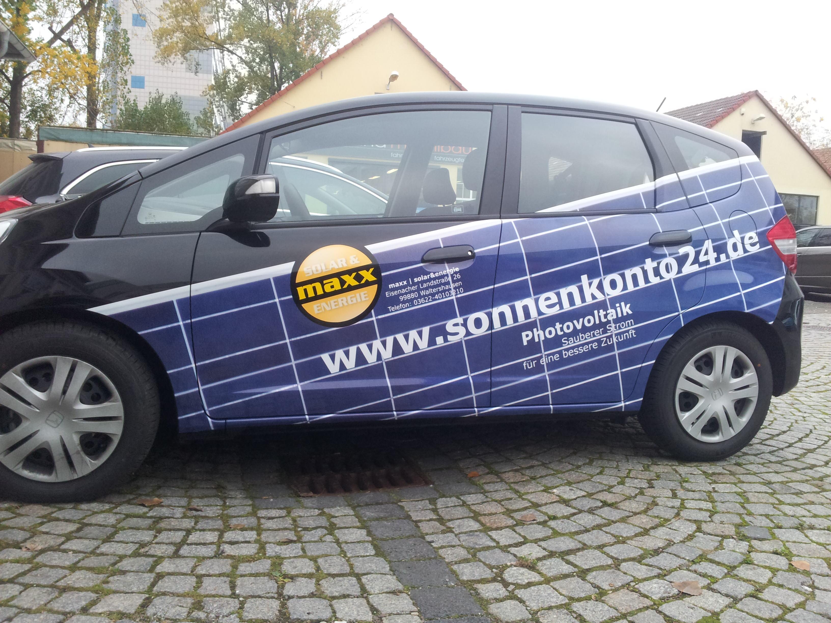 Fahrzeugbeschriftung Solar Maxx