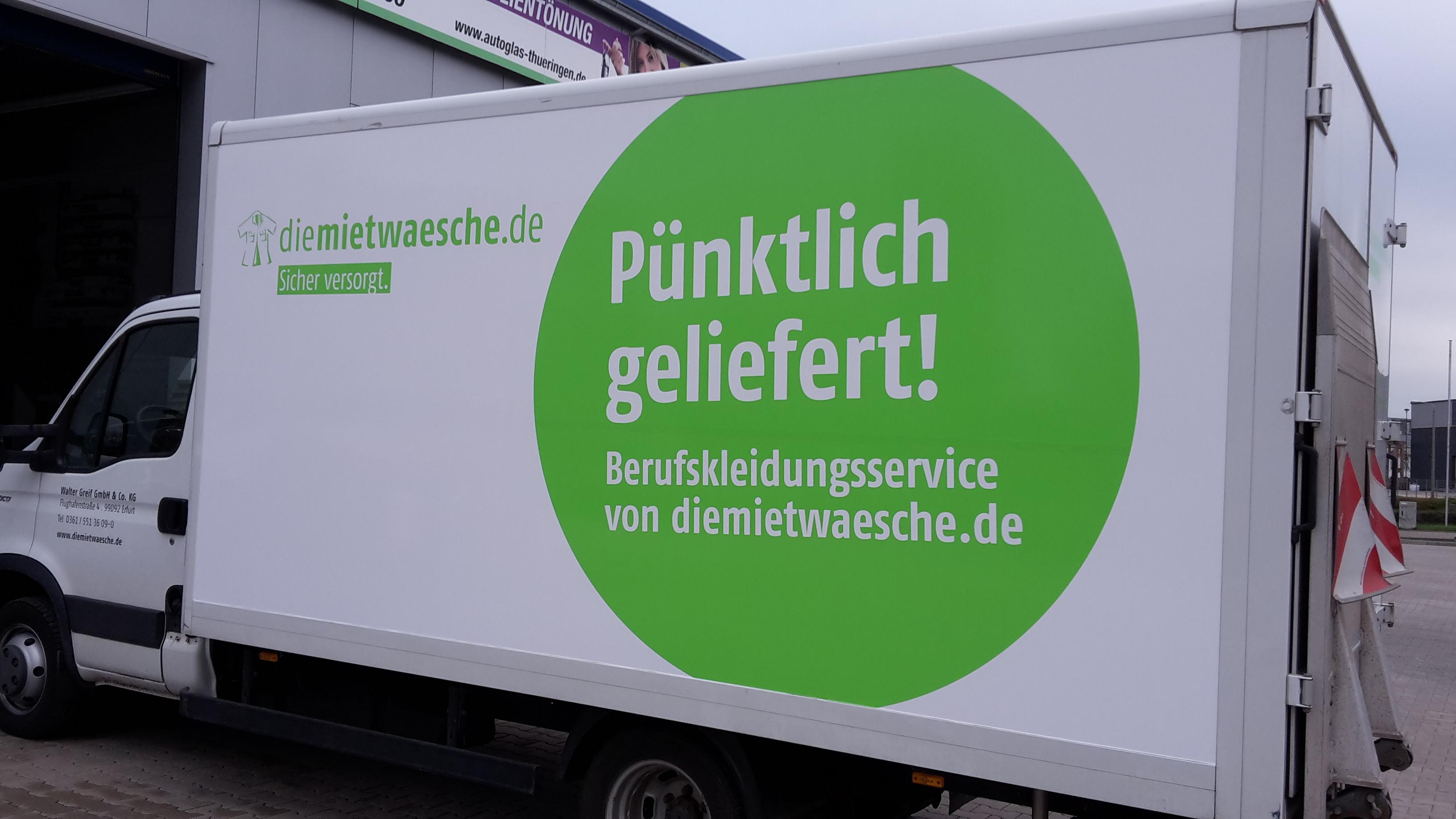 Fahrzeugbeschriftung diemietwaesche.de
