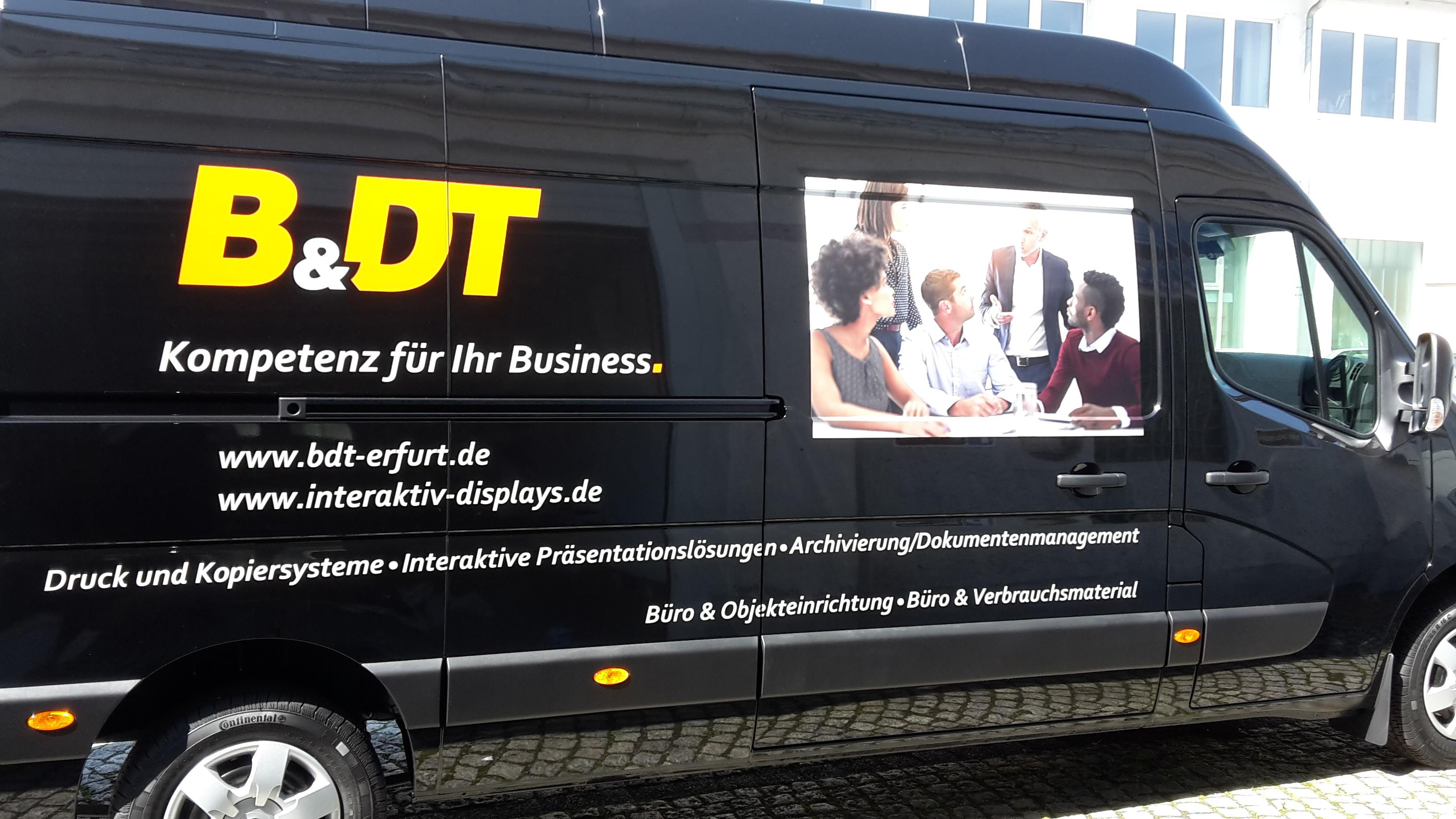 Fahrzeugbeschriftung bdt Erfurt