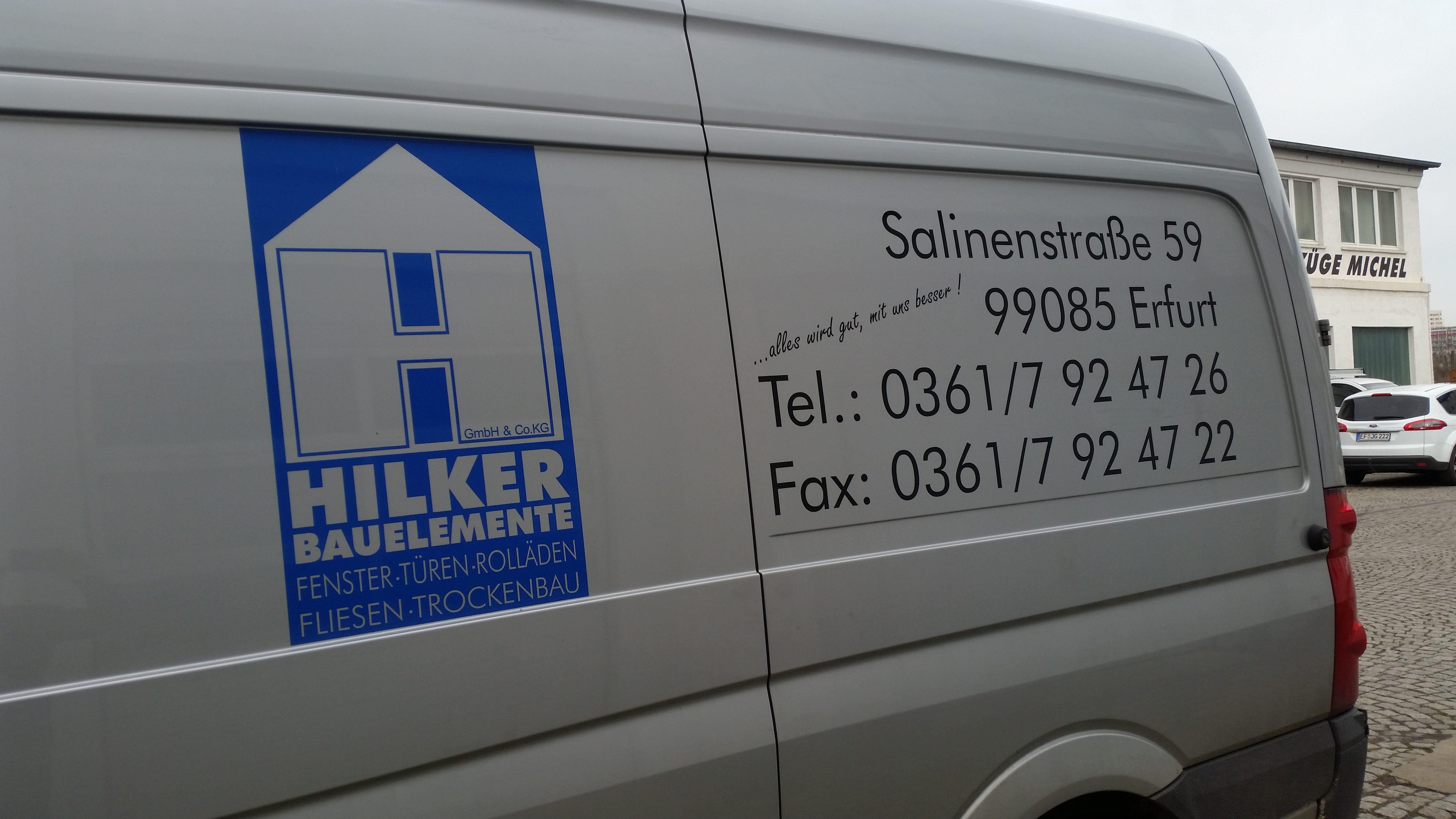 Fahrzeugbeschriftung Hilker Bauelemente